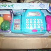 кассовый аппарат с настоящим калькулятором на бат-ках