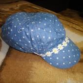 Джинсовая кепка M&S в горошек 1,5-3 года