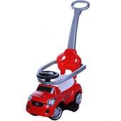 Игрушка - каталка автомобиль-толокар  с родительской ручкой для прогулок