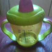 Фирменная чашка поильник непроливайка Canpol babies