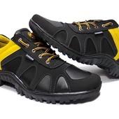 Яркие демисезонные кроссовки с желтой вставкой (NZ-15)