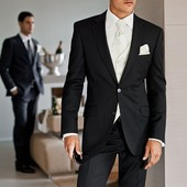 Черный мужской пиджак George, Англия, размер 46-48 наш