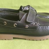 Туфли, топсайдеры кожаные Dombi р.31, стелька 20.5см.