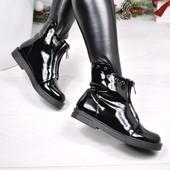 Ботинки женские деми лак