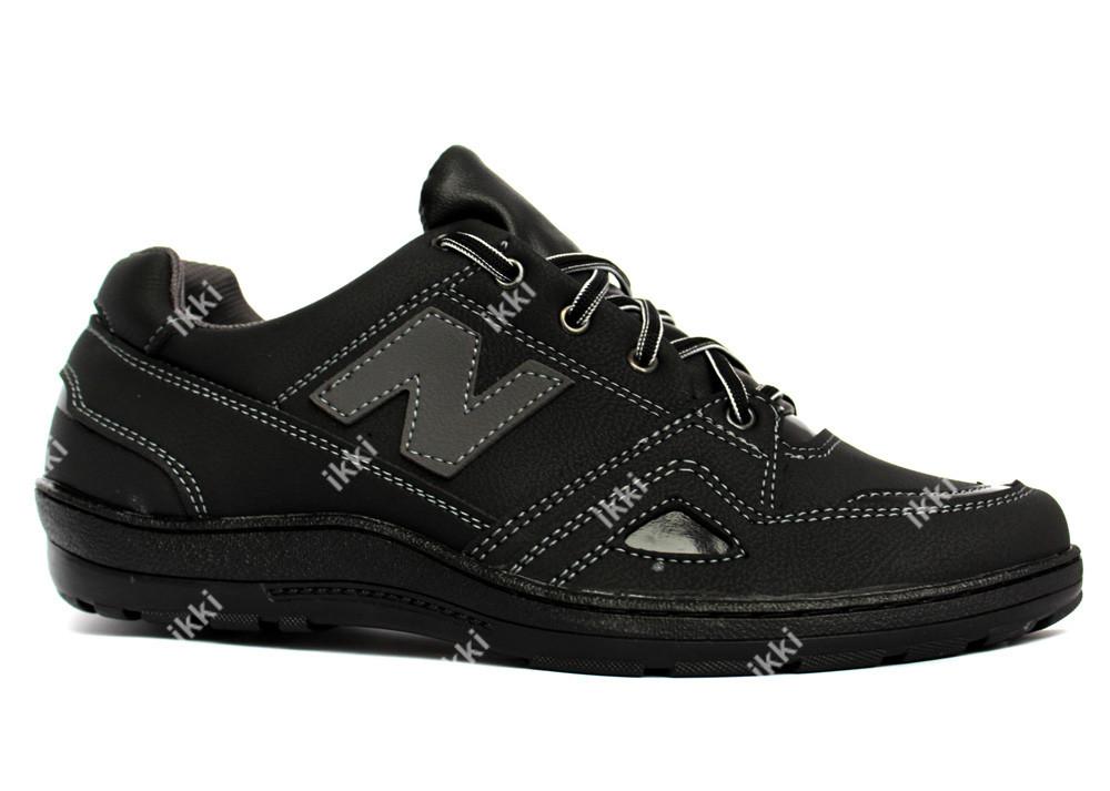 Мужские демисезонные кроссовки черного цвета (КТ-22ч) фото №1