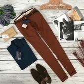 """Мужские брюки цвета """"молочный шоколад"""" Zara  PN180253"""