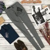 Мужские брюки насыщенного серого оттенка Zara  PN180256