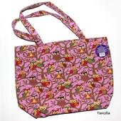 Большая красивая, вместительная сумка модной расцветки с Совами