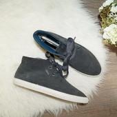 (40р./26см) esprit! замша! стильные ботинки на утеплителе