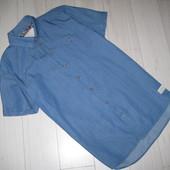 Рубашка тениска джинсовая разм. L