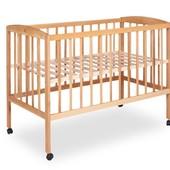 Кроватка детская на колесах (1200*600) (бук)1790013