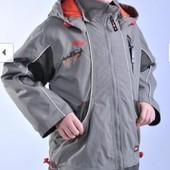 Распродажа - Куртка мальчикам на рост 86 92 см от  Diwa Club демисезонная оливковая серая