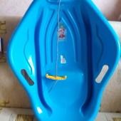 Санки пластиковые, детские.  Super Boat В Ракушка