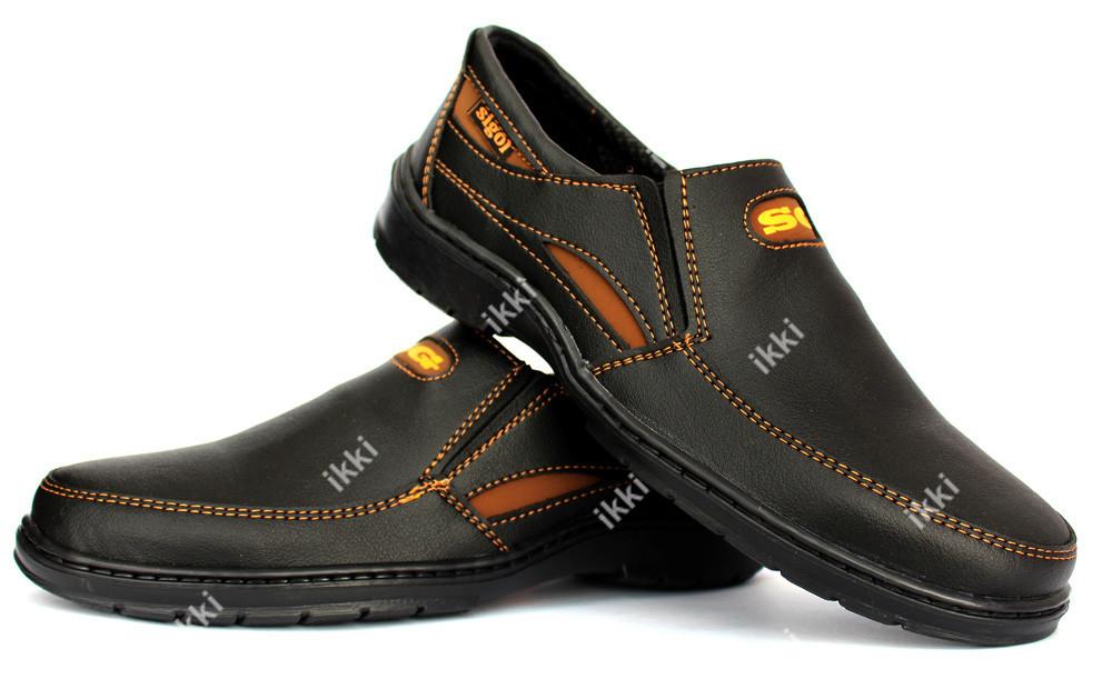 40 р Повседневные мужские туфли на резинку (СГП-2ч) фото №1