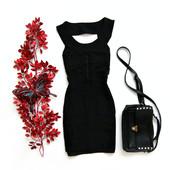 Женское бандажное платье черное