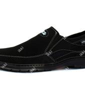 Мужские туфли на резинку без шнурков (СГП-1-3)
