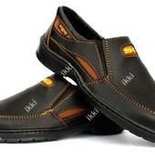 Повседневные мужские туфли на резинку (СГП-2ч)