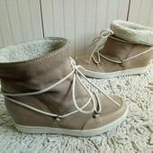 Ботинки із натуральної замші і шкіри 40 р-р і устілка 26 см.