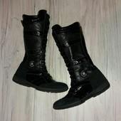 Кожаные сапоги Clao Junior 36р. 23.5 см