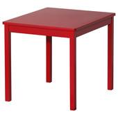 Стол детский, красный, 59x50 см Икеа Криттер, 601.537.02 Kritter Ikea