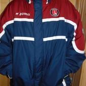 Спортивная фирменная курточка спортивная  бренд Joma Єврозима ф.к Чарльтон . 2хл-3хл .