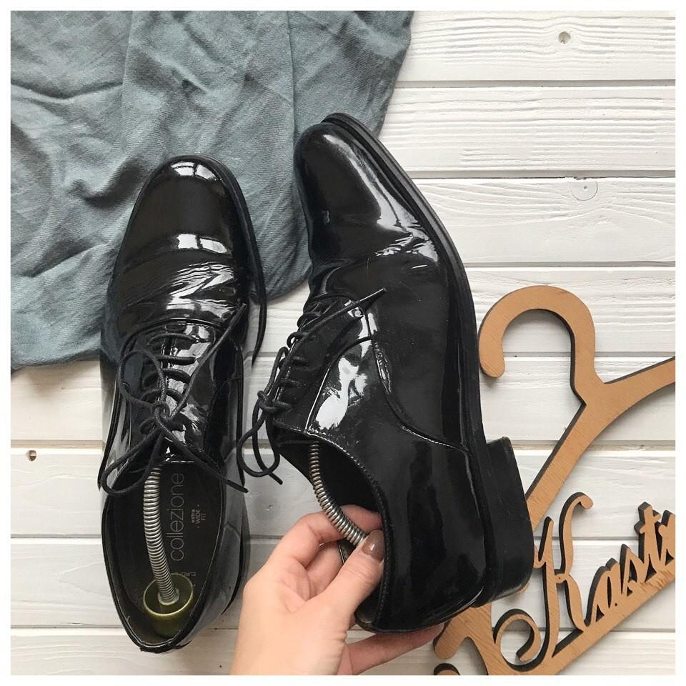 Лаковые туфли M&S р-р 42-43 фото №1