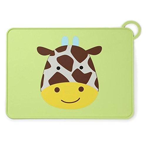 Skip hop силиконовый коврик подстилка для еды жирафик zoo fold go silicone kids placemat jules giraf фото №1