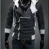 Повседневная мужская толстовка , реглан, куртка m, l, xl, xxl, xxxl,4xl серая