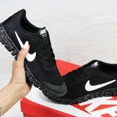 Кроссовки женские сетка Nike Free Run 3.0 black