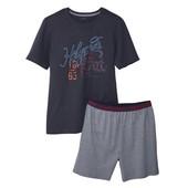 Комплект для дома мужская пижама р.L футболка шорты Livergy