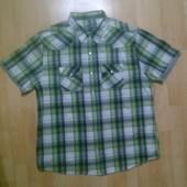 Фирменная рубашка обманка футболка XXL