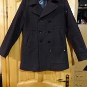 Темно-коричневое шерстяное пальто G-Star raw vintage Hamward P coat L.