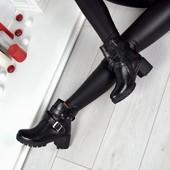 Ботинки на каблучке Натуральная кожа, кожаные ботинки, кожаные весенние ботинки