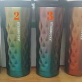 Термо чашка Starbucks (Старбакс) фигурная цветная