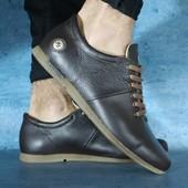 Туфли Olimp, кожа, р. 40-45, черн, коричн, син, код gavk-10686