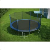 Батут Hop-Sport 16 ft (488 см) + лесенка (внешняя сетка) 820014