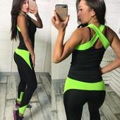 Костюм женский фитнес в расцветках 23838