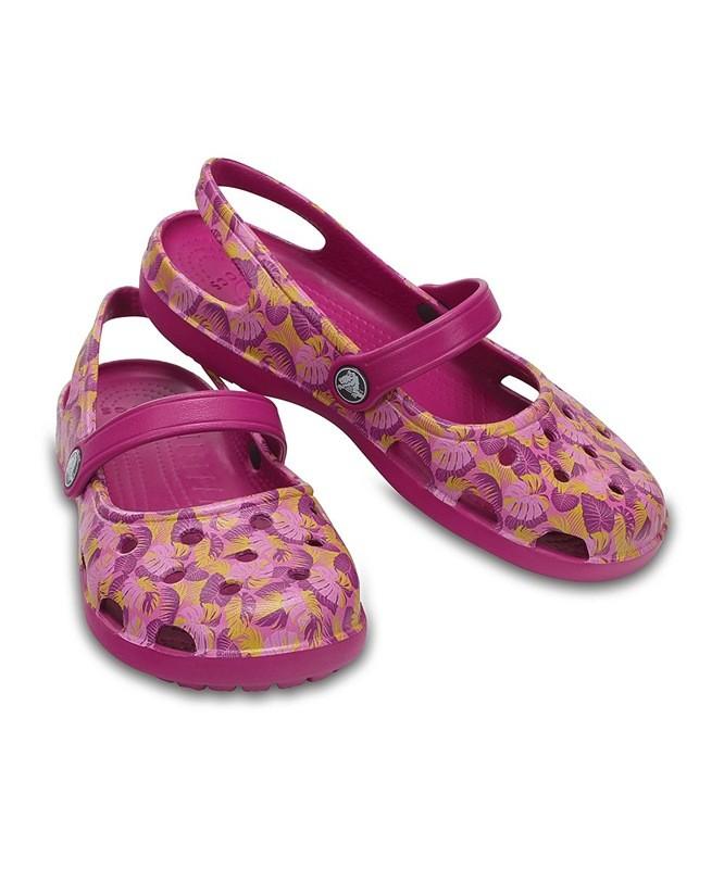 Сrocs w5,w8 (р.35,39 ) mary jane vibrant violet shayna graphic фото №1