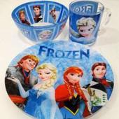 Детский набор посуды холодное сердце из 3-х предметов