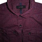 Мужская рубашка бардовая в узорчик River Island s m
