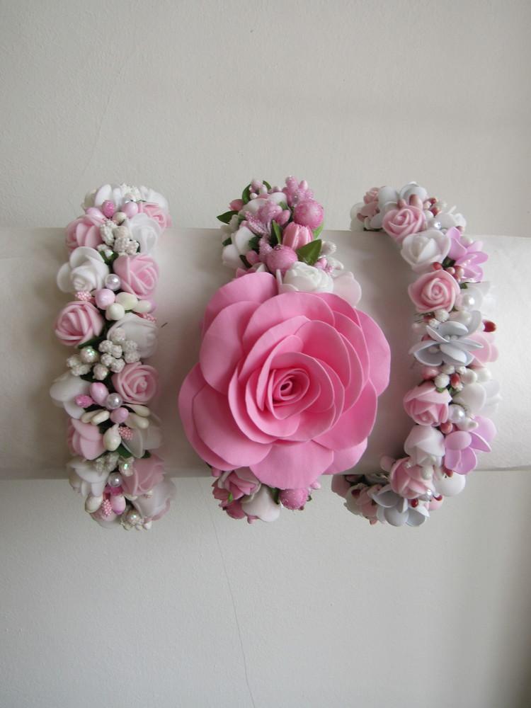 Нежные обручи с розами из фоамирана. в наличии фото №1