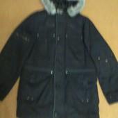 Куртка мужская зимняя черная р.48-50