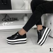 Черные кеды на высокой подошве,  ботинки на платформе