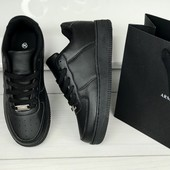 Кроссовки черные в стиле Nike air Force