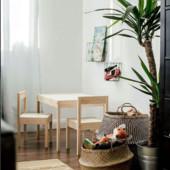 Стол детский с 2 стульями, белый, сосна Икеа Lätt, Ikea 501.784.11