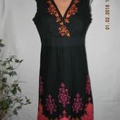 Новое натуральное платье с вышивкой