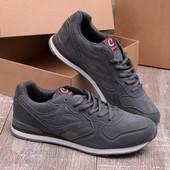 Стильные мужские кроссовки серого цвета