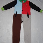 5-6 лет, р. 116-122 яркий слип пижама двунитка