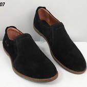 Туфли на шнурках № 105 чёрная замша