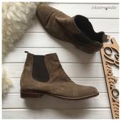 Замшевые женские ботинки челси рр 41